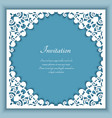 square frame with cutout lace corners vector image vector image