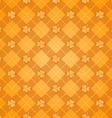 st patricks days orange pattern vector image vector image