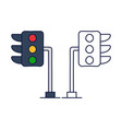traffic light icon from driving school collection vector image vector image