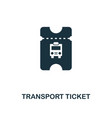 transport ticket icon monochrome style design vector image vector image