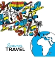 Travel Hand Drawn vector image