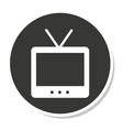 tv old retro isolated icon vector image