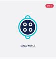 two color malai kofta icon from india concept vector image vector image
