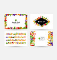 vegetables banners and elements for menu design vector image vector image