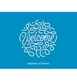 Welcome premium lettering vector image vector image