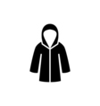 Woman raincoat Icon Flat vector image