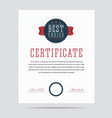 Best choice certificate vector image