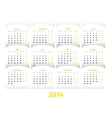 paper style 2014 year calendar vector image