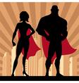 Superhero Couple 4 vector image