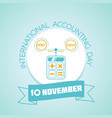 10 november international accounting day vector image vector image