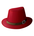 A red hat with a brown belt vector image vector image