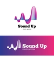 abstract music logotype gradient blue vector image