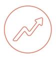 Arrow upward line icon vector image vector image