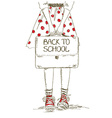 Back to school with girl vector image vector image