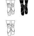 balletshoes vector image vector image