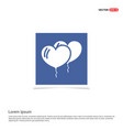 balloons icon - blue photo frame vector image