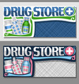 banners for drug store vector image