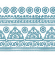 Blue indian seamless pattern vector image vector image