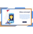 business creative startup idea mobile app concept vector image