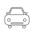 car icon silhouette isolated on white vector image