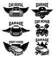 car repair garage auto service emblems design vector image vector image