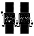 cartoon kawaii wrist watch character vector image