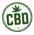 cbd cannabidiol sign or stamp vector image