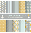 Christmas Retro Set - 10 seamless patterns vector image vector image