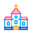 church building for wedding ceremony icon vector image