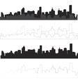 city silhouette in black and with interpretation 1 vector image