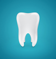 Clean healthy teeth on blue background vector image vector image