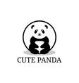 Cute panda cartoon logo designs cute animal care