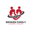 deal family care logo designs simple modern vector image vector image
