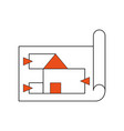 design plans paper vector image