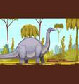 dinosaurs horizontal vector image