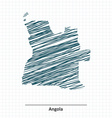 Doodle sketch of Angola map vector image