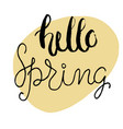 easter greeting card - hello spring vector image vector image