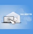 email marketing conceptual design template vector image vector image