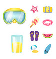 equipment and swimming vector image vector image