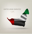 Flag Arab Emirates in a country vector image vector image