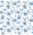 floral blue tile seamless pattern vector image