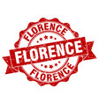 florence round ribbon seal vector image vector image