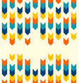 geometric arrows stripes colorful pattern vector image vector image