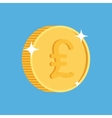 gold coin icon with british pound symbol vector image vector image