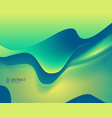 green and blue color abstract wavy background vector image