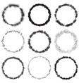 grunge rings big set vector image vector image
