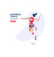 handball player character vector image vector image