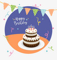happy birthday party greeting card vector image vector image