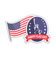 happy flag day greeting stickers statue liberty vector image vector image