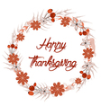 Happy Thanksgiving Day greeting card wreath and